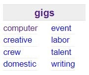 craigslist hustle gigs